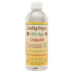 Healthy origins 100% virgin liquid coconut oil- 20 oz