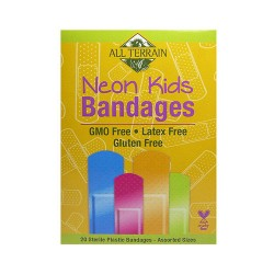All Terrain Kids Neon Ecoguard Bandages, Latex Free - 20 ea