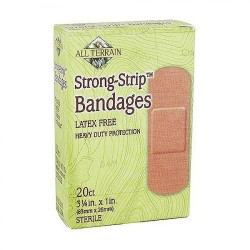All Terrain strong strip bandages, Latex Free - 20 ea