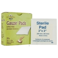 All Terrain Gauze pads, latex free Size 2 X 2 inches - 10 ea