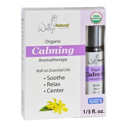 Wallys natural products aromatherapy blend organic rollon essential oils calming - 0.33 oz