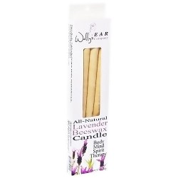 Wallys Natural Lavender Beeswax Candles - 4 Ea