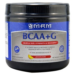 MRM bcaa plus g for muscle recovery, lemonade - 0.396 lbs