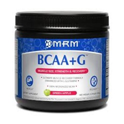 MRM bcaa plus g, green apple -2.2 lbs
