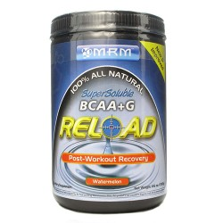 MRM all natural bcaa plus g reload post workout recovery, watermelon - 11.6 oz