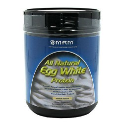 MRM Natural egg white protein, french vanilla - 12 oz