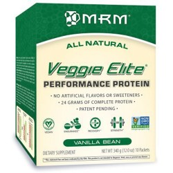 MRM all natural veggie elite protein, vanilla bean - 12 oz