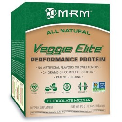 MRM all natural veggie elite protein, chocolate mocha - 13.1 oz