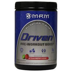 MRM all natural driven pre  workout boost, strawberry kiwi - 12.3 oz