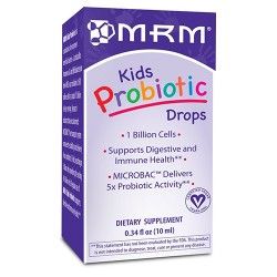MRM kids probiotic drops for digestive and immune health - 0.34 oz