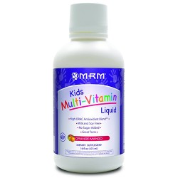 MRM kids multi vitamin liquid, orange mango - 16 oz
