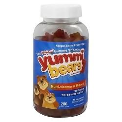 Yummi Bears multi-vitamin and mineral dietary supplement gummies, the original - 200 ea