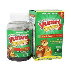 Yummi Bears wholefood fruit and vegetables plus antioxidants dietary supplement gummies - 90 ea