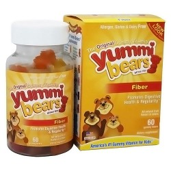 Yummi Bears fiber supplement gummy vitamins, natural fruit flavors - 60 ea