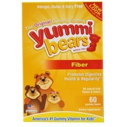 Hero nutritionals yummi bears fiber supplement for kids - 60 ea