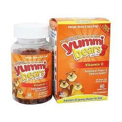 Yummi Bears vitamin C dietary supplement gummies with natural fruit flavors - 60 ea