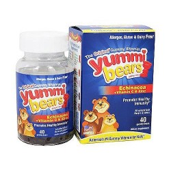 Yummi Bears echinacea with vitamin C and zinc natural immune support gummies - 40 ea
