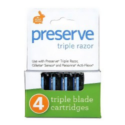 Preserve Triple Razor Replacement Blade Cartridges - 4 ea, 6 pack