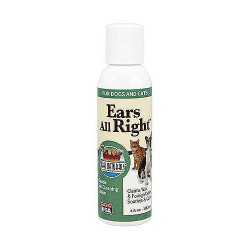Ark Naturals ears all right gentle ear cleaning lotion for dogs and cats - 4 oz