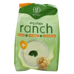 Genisoy - soy crisps naturally flavored creamy ranch - 3.85 oz