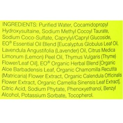 EO Essential Oil lemon and eucalyptus liquid hand soap refill - 32 oz