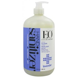 EO Essential Oil hand sanitizing gel, Organic Lavender - 32 oz