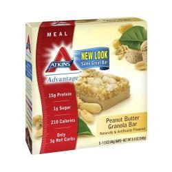 Atkins Meal Bar, Peanut Butter Granola - 5 Bars