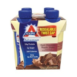 Atkins advantage dark chocolate royale shake - 11 oz, 4 pack
