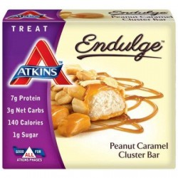 Atkins endulge pieces peanut caramel cluster bar - 5 oz, 6 pack