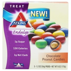 Atkins nutritionals inc. - Endulge chocolate peanut candies - 5  packs