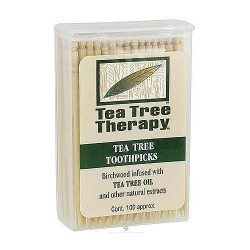 Tea Tree Therapy Toothpicks - 100 ea, 12 pack