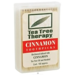 Tea Tree Therapy Toothpicks, Cinnamon - 100 ea
