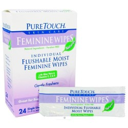Pure Touch Skin Care Feminine Wipes, Naturals - 24 packets