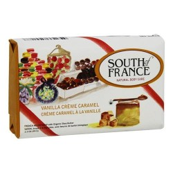 South of france french milled vegetable bar soap vanilla creme caramel - 3 oz
