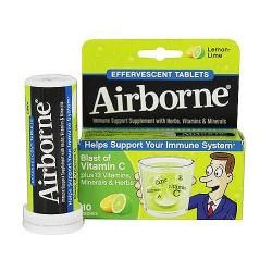 Airborne effervescent health formula tablets, lemon lime - 10 ea
