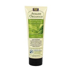 Avalon organics moisturizing cream shave, aloe vera unscented - 8 oz