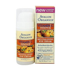 Avalon organics vitamin C revitalizing eye cream, sun aging defense - 1 oz