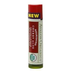 Avalon Organic Botanicals nourishing cherry aloe organic lip balm - 0.15 oz, 24 pack