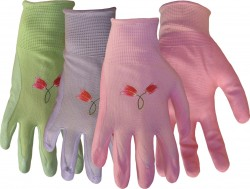 Boss Manufacturing P nylon knit nitrile palm gloves for women - large, 144 ea