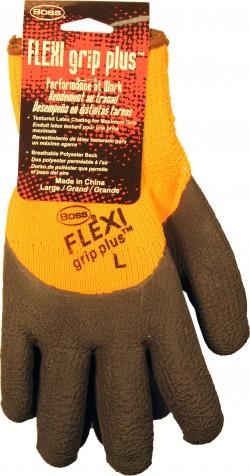 Boss Manufacturing P flexi grip plus high-vis latex palm - large, 144 ea