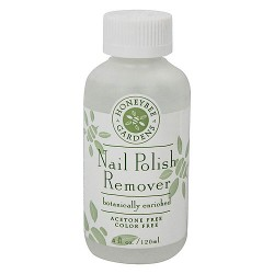 Honeybee gardens nail polish remover, Botanically enriched - 4 oz