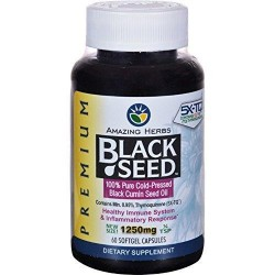 Amazing herbs black seed 100percent Pure cold pressed oil - 60 ea