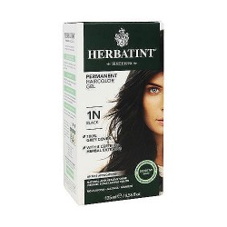 Herbatint permanent herbal haircolor gel with aloe vera #1N black - 4.56 oz