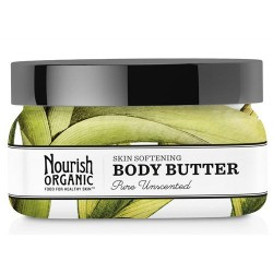Nourish organic body butter pure, unscented - 3.6 oz