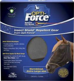 Manna Pro - Fly opti-force equine fly mask with insect shield - extra large, 12 ea