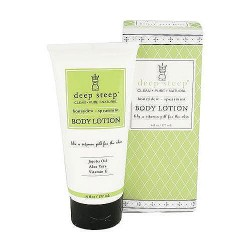 Deep steep organic soy body lotion, honey dew and spearmint - 6 oz