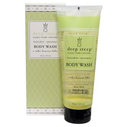 Deep steep body wash, Honeydew, Spearmint - 8 oz