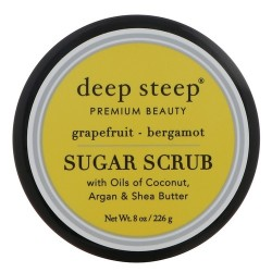 Deep steep sugar scrub, Grapefruit, Bergamot - 8 oz