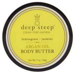Deep steep argan oil body butter, lemongrass jasmine - 7 oz