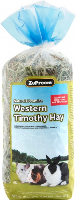 Zupreem nature's promise western timothy hay - 14 oz, 8 ea